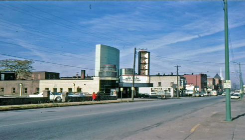 Old Lake Theater and Angelos Pizza in Painesville, Ohio circa 1960's