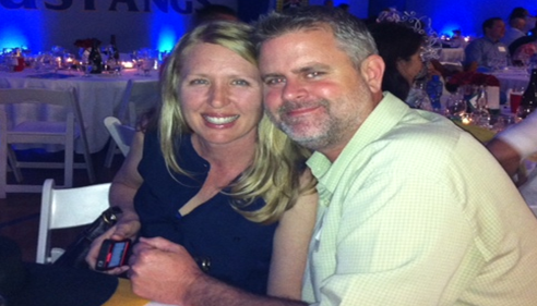 My beautiful Wife and I attending a Fundraising Event.