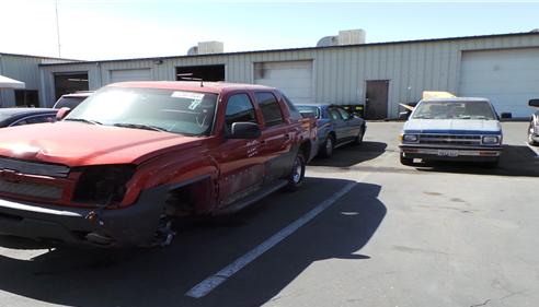 "Before Photo of Damage - 3rd Annual ""Driving for Change"" Veteran's Day 2014"