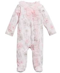 Image of First Impressions Baby Girls Floral-Print Footed Coverall, Created for Macy's