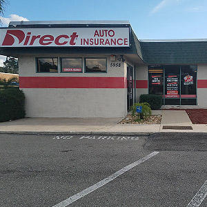 Front of Direct Auto store at 5958 Merrill Road, Jacksonville