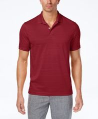 Image of Club Room Men's Textured-Stripe Performance Polo, Created for Macy's