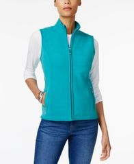 Image of Karen Scott Zeroproof Fleece Vest, Created for Macy's