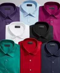 Image of AlfaTech by Alfani Men's Solid Classic/Regular Fit Dress Shirt, Created For Macy's