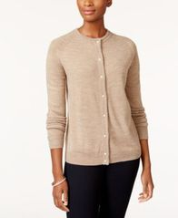 Image of Karen Scott Faux Pearl-Button Cardigan, Created for Macy's