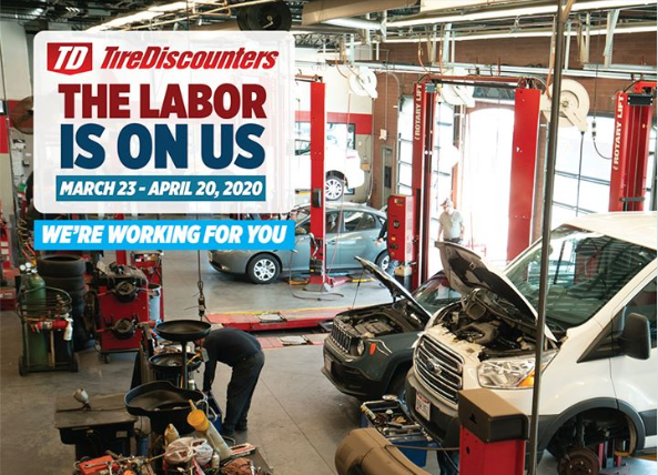 To give back to the communities in which we live and work, we're offering no-cost labor on in-stock Pirelli, Continental, Cooper, and General tires. Labor value $29.99 per tire. Plus, on sets of 4 tires, you will still get a FREE ALIGNMENT, for a total savings valued at over $200! We want to make sure all our customers can always get wherever they need to be.