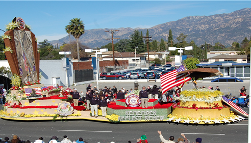 The Farmers® Insurance Float at the Rose Parade