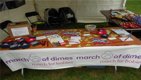 March of Dimes table is all setup. We are ready to rock and roll!