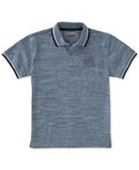 Image of Calvin Klein Marled Space-Dyed Polo, Big Boys