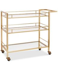 Image of Martha Stewart Collection Barware with a Twist Bar Cart