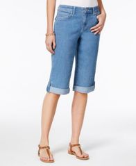 Image of Style & Co Cuffed Denim Skimmer Shorts, Created for Macy's
