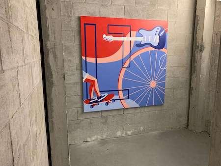 N 7th storage facility wall mural