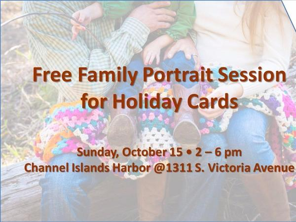 Oct. 15 Event: Free Family Photography Session for Holiday Cards