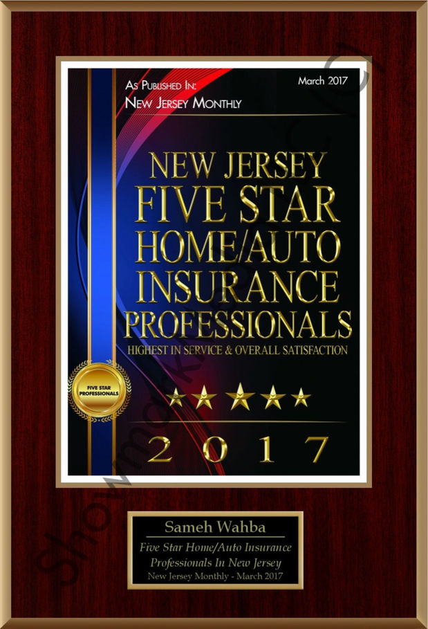 Sameh Wahba - Five Star Home/Auto Insurance Professional Award