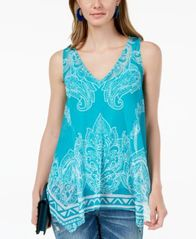 Image of I.N.C. Printed Handkerchief-Hem Top, Created for Macy's