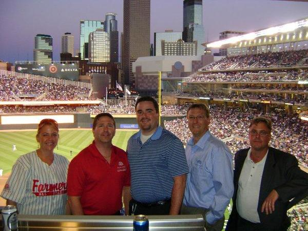 Great time at the Game with my District 80 friends! Insurance friends for life!