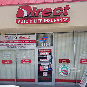 Front of Direct Auto store at 1164 North State Road 7, Lauderhill