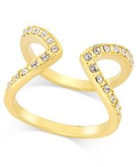 Image of I.N.C. Gold-Tone Pavé Crystal Open-Style Ring, Created for Macy's