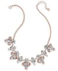 Image of Charter Club Rose Gold-Tone Multi-Stone Statement Necklace, Created for Macy's