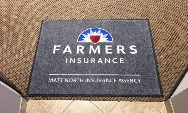 The welcome rug for The Matt North Agency.