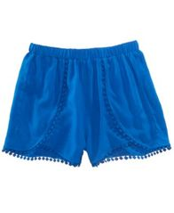 Image of Epic Threads Pom Pom-Trim Shorts, Big Girls, Created for Macy's