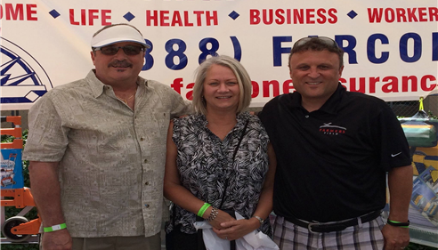 Frank and Lynnette Farcone stopping by Ranchofest 2014! Rancho Santa Margarita
