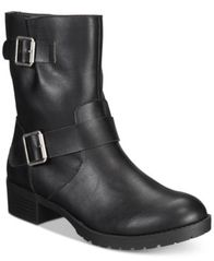 Image of Style & Co Gianara Moto Booties, Created For Macy's