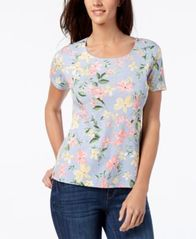 Image of Karen Scott Print T-Shirt, Created for Macy's