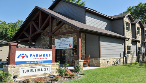 Exterior of Farmers Insurance agency building