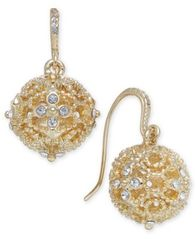 Image of Charter Club Crystal Filigree Drop Earrings, Created for Macy's
