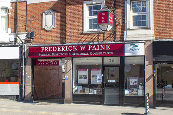 Frederick W Paine Funeral Directors in Worcester Park