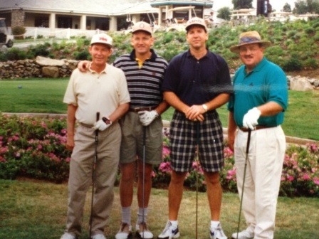 Toppers Club Golf with the late Jim Petersen, Marc Cunningham and Ron Atchley.