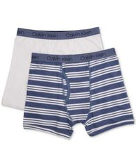 Image of Calvin Klein 2-Pk. Cotton Boxer Briefs, Toddler Boys, Little Boys & Big Boys