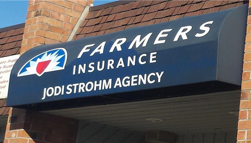 New awning logo at the Jodi Strohm Agency