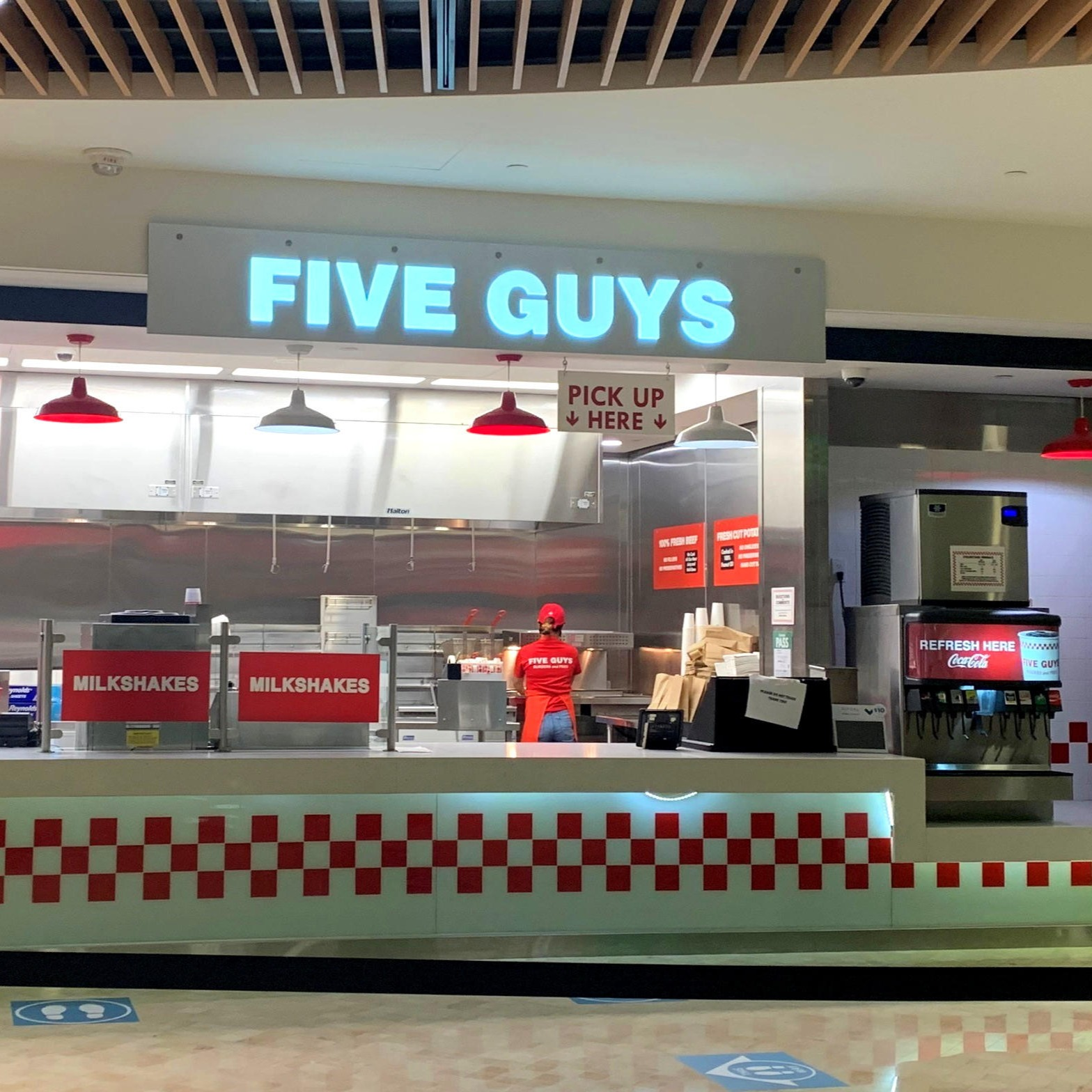 Five Guys at 100 King St. West in Toronto.