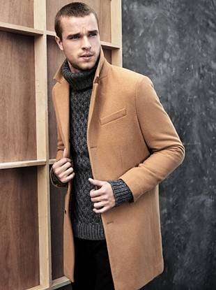 mens wool-blend peacoat