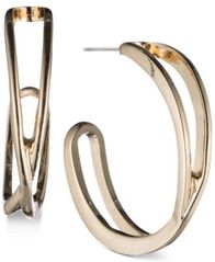 Image of Nine West Openwork J-Hoop Earrings
