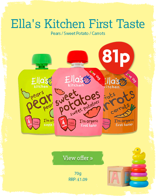 Ella's Kitchen offer available until 26th May