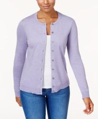 Image of Karen Scott Crew-Neck Cardigan, Created for Macy's