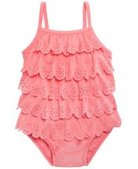 Image of First Impressions 1-Pc. Ruffled Swim Suit, Baby Girls, Created for Macy's