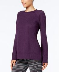 Image of Alfani Heathered Pajama Tunic, Created for Macy's