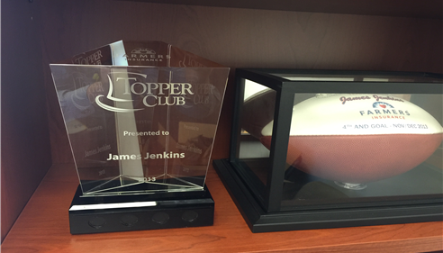 "A recent award we received, ""Topper Club"" for overall agency excellence in 2013 and 2015."