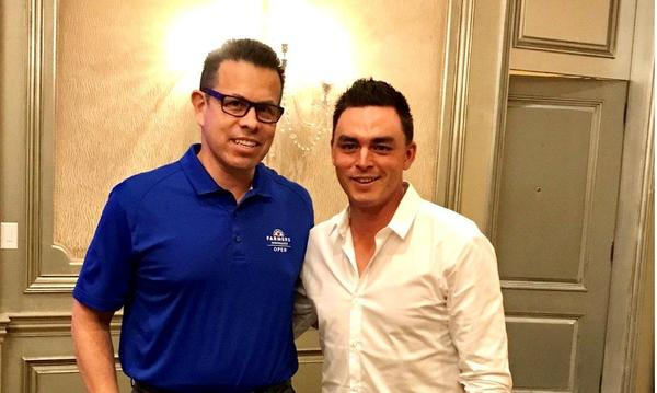 Rudy Rojas and Ricky Fowler posing for picture