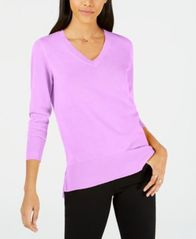 Image of Maison Jules V-Neck Tunic Sweater, Created for Macy's