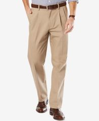 Image of Dockers Men's Stretch Classic Pleated Fit Signature Khaki Pants D3
