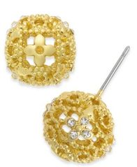 Image of Charter Club Crystal Filigree Stud Earrings, Created for Macy's