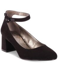 Image of Bandolino Odear Ankle-Strap Block Heel Pumps