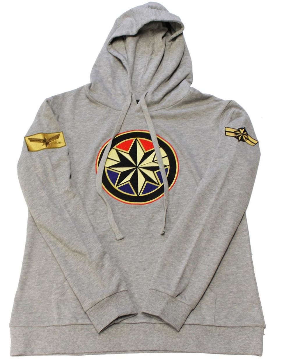 Image of Captain Marvel with Classic Patches Women's Hoodie