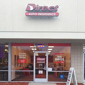 Front of Direct Auto store at 1507 South Cannon Boulevard, Kannapolis