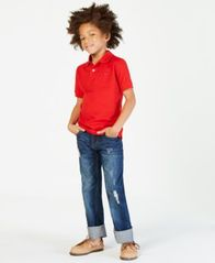 Image of Tommy Hilfiger Big Boys Ivy Stretch Polo Shirt